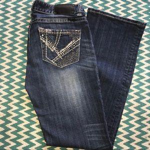 Rock & Roll Cowgirl Rhinestone Jeans 30x32